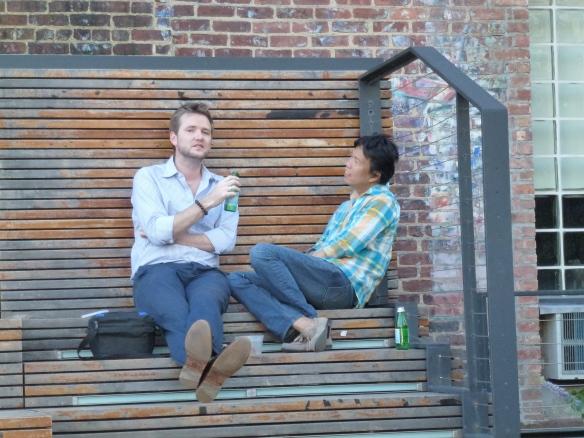 Relaxing on the Highline (c) 2013 Changing Chelsea Paul Kornblueh